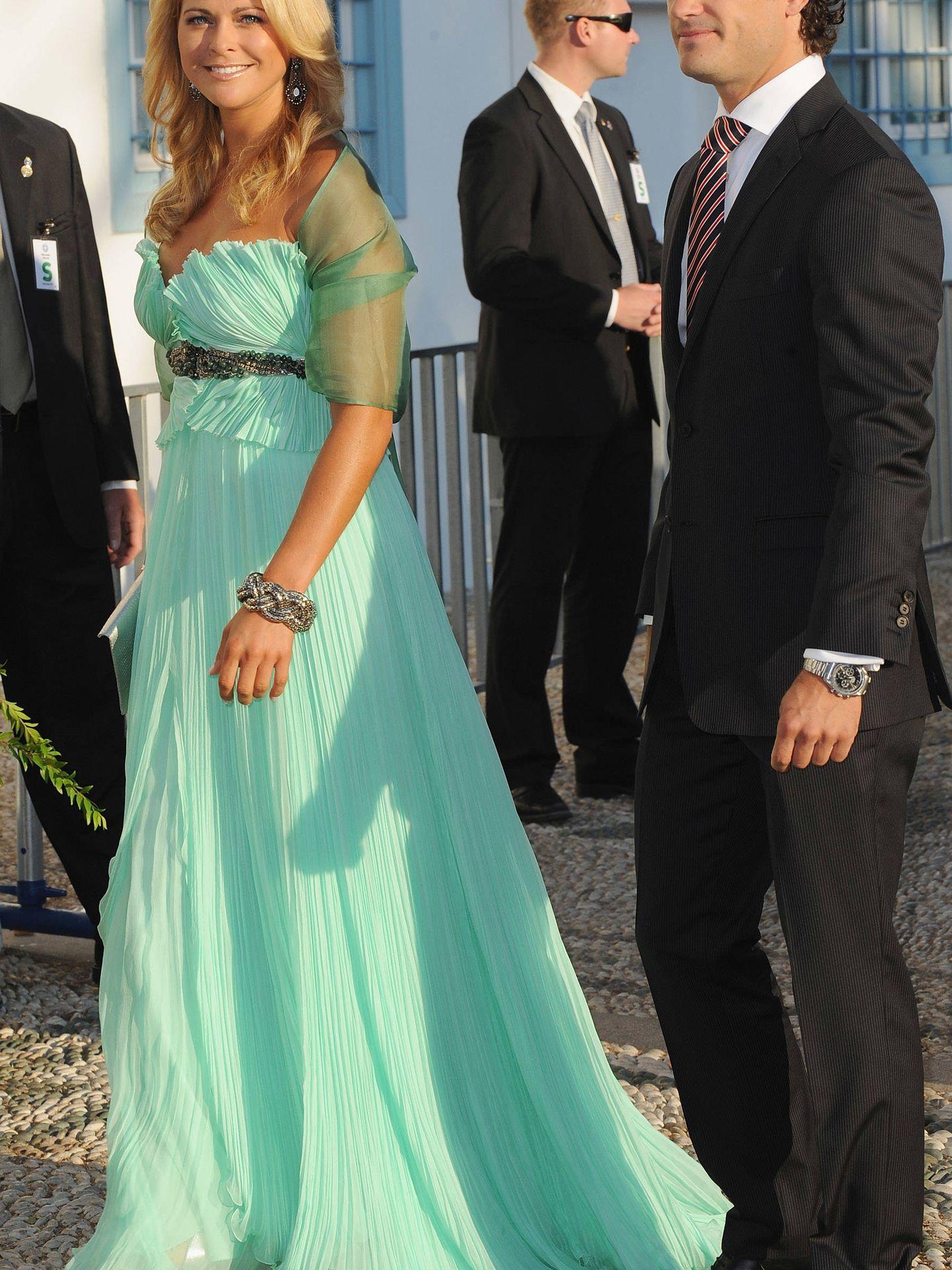 Magdalena y Carlos Felipe, en la boda de Nicolás y Tatiana. (Getty)