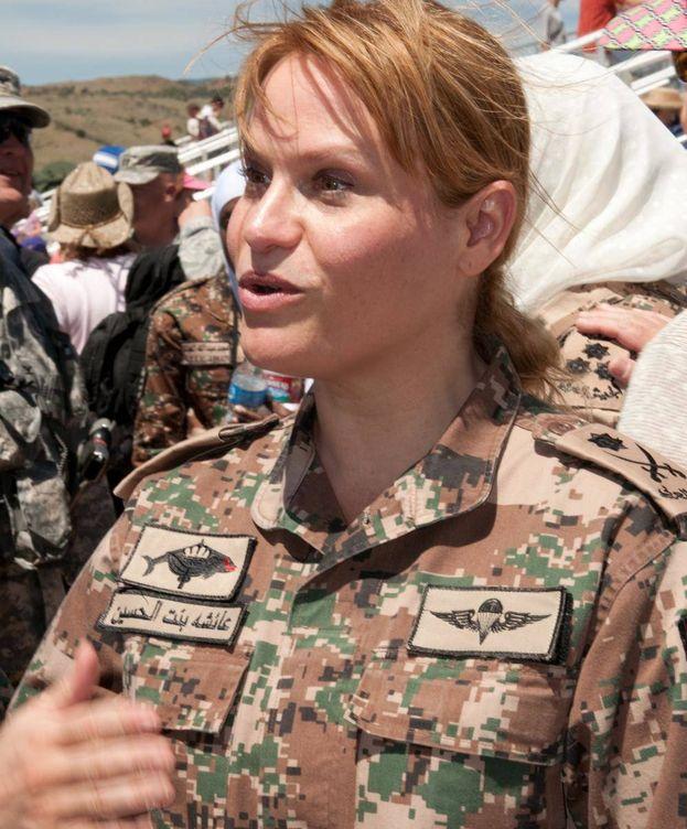 Foto:  La princesa Aisha en un acto militar