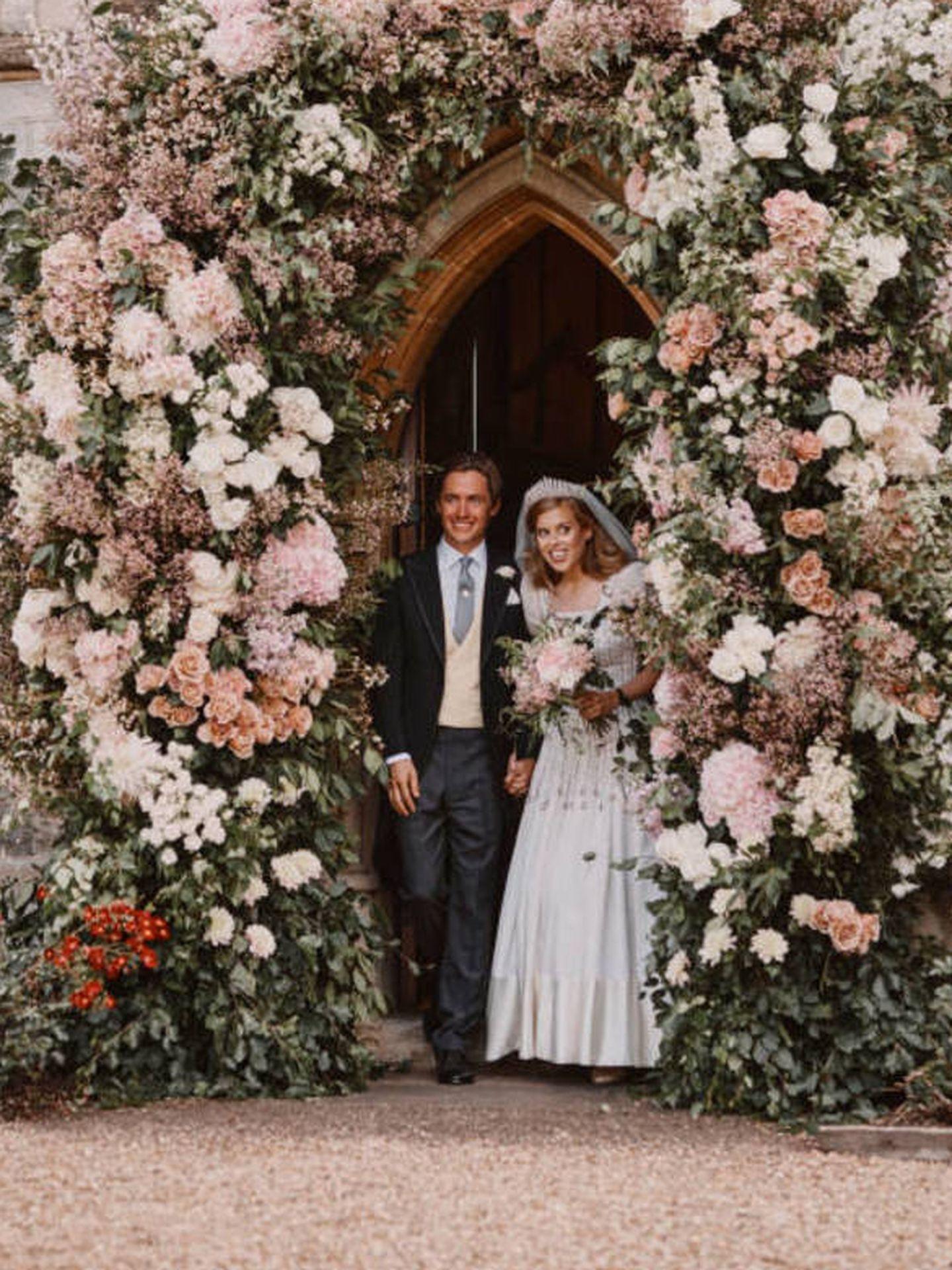 Beatriz de York y Edo Mapelli, recién casados. (Reuters)