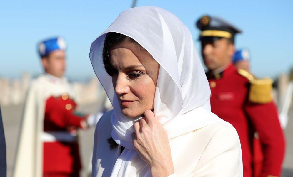 Foto: La reina Letizia en su viaje a Marruecos. (EFE)
