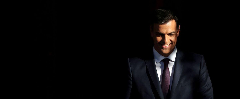 Foto: Pedro Sánchez sonríe antes de recibir a Emmanuel Macron en la Moncloa, el pasado 26 de julio. (Reuters)