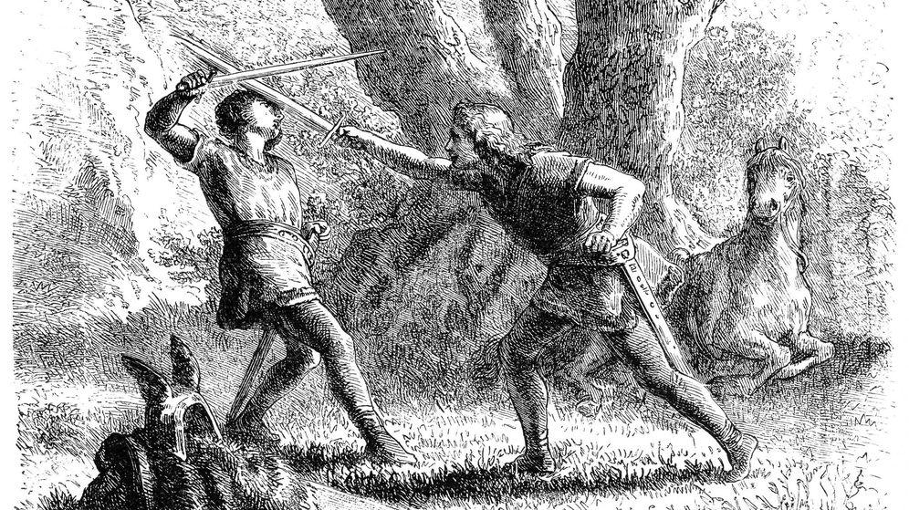 Foto: Duelo medieval. Ilustración: iStock.