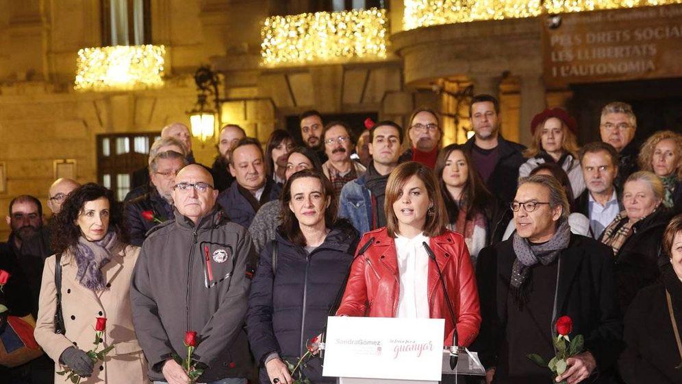 Foto: Sandra Gómez, este martes, en la presentación de su candidatura al liderazgo del PSPV de Valencia ciudad.