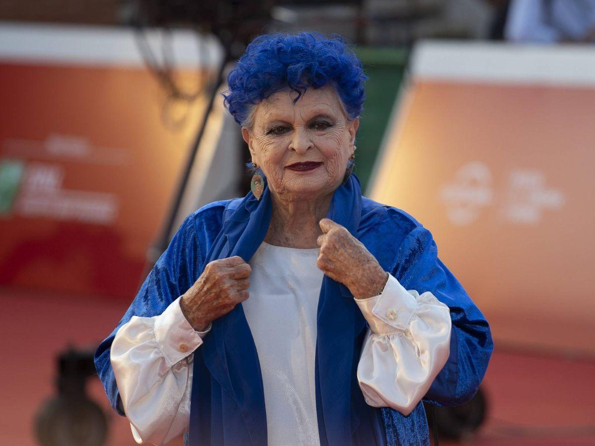Foto: Lucía Bosé, en el Festival de Cine de Roma. (Getty)