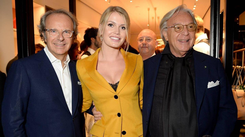 Andrea y Diego Della Valle, junto a Lady Kitty Spencer. (Cortesía de la marca)
