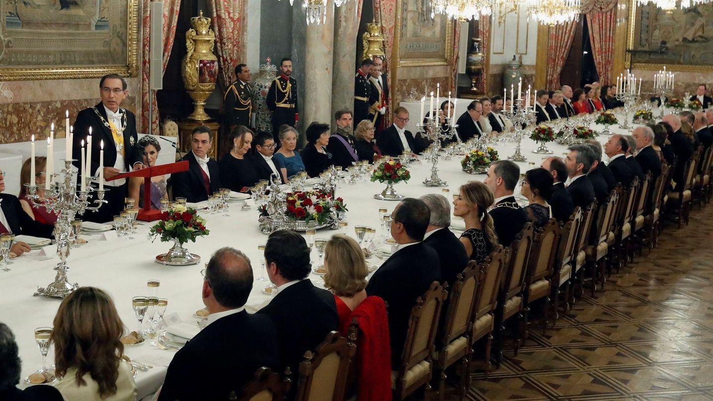 El Palacio Real, durante una cena de gala. (EFE)