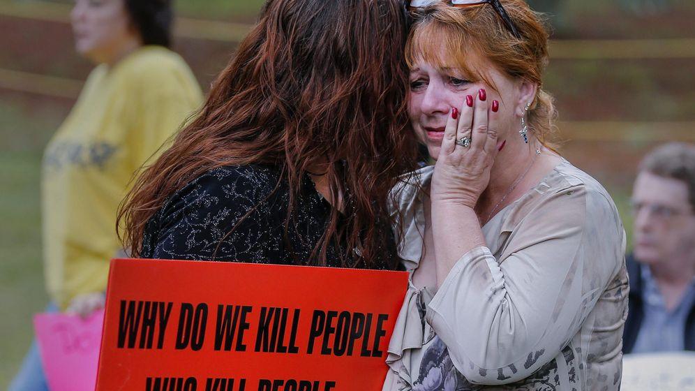 Foto: Protesta contra la pena de muerte en Estados Unidos. (EFE)