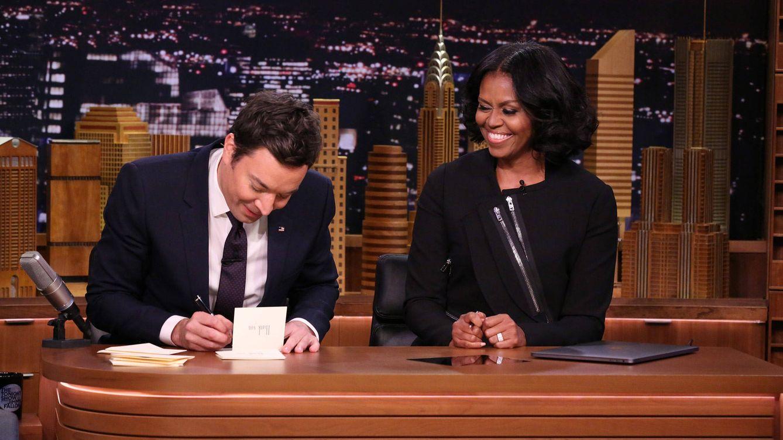 Foto: Michelle Obama y Jimmy Fallon