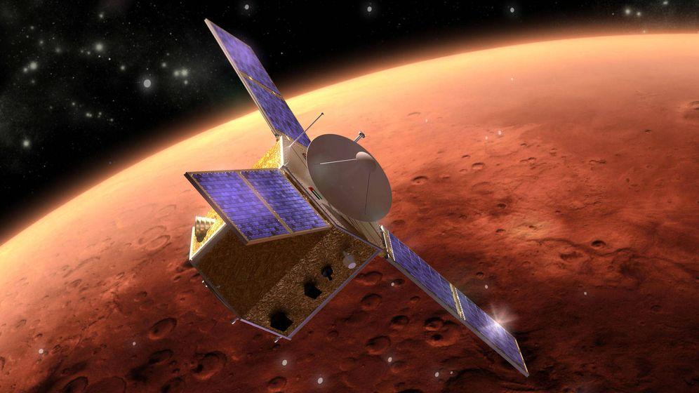 Foto: Sonda mapeando Marte.