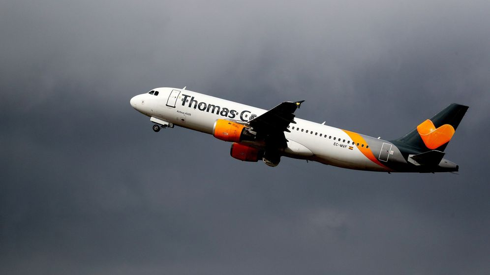 Foto: Un avión de la compañía Thomas Cook, despega del Aeropuerto de Düsseldorf. (Reuters)