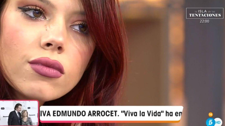 Alejandra Rubio hablando en 'Viva la vida'. (Telecinco).