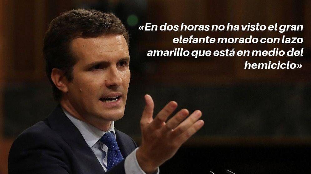 Foto: Pablo Casado, durante el debate de investidura. (EFE/C.C.)