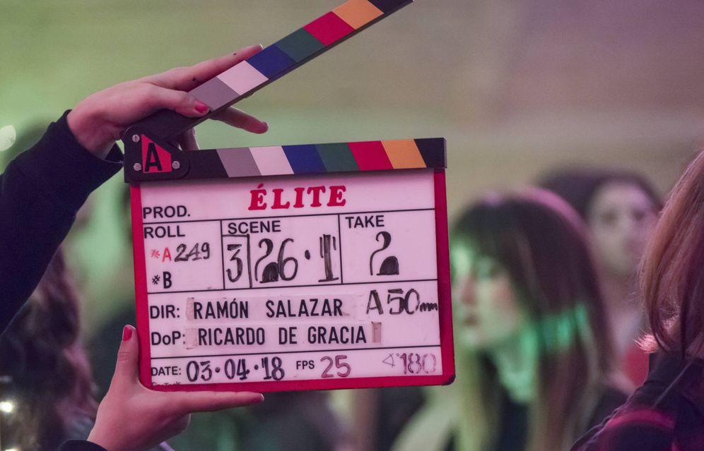 Foto: Imagen del rodaje de la serie de Netflix 'Élite'. (Netflix)