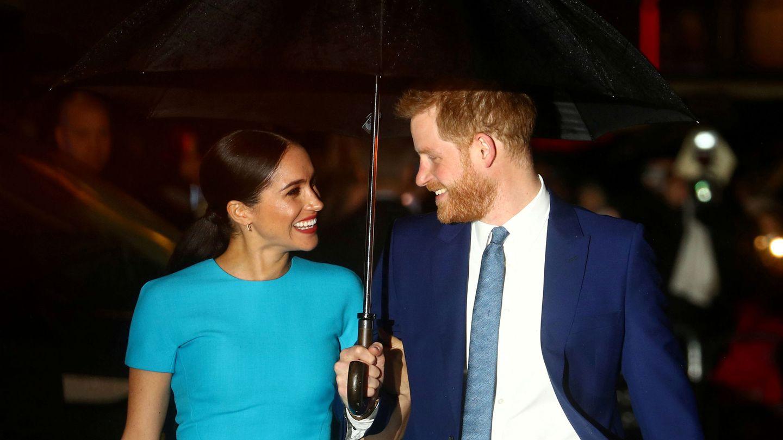 Meghan Markle y el príncipe Harry, en uno de sus últimos compromisos oficiales. (Reuters)