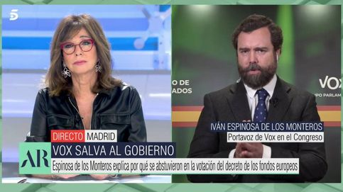 Lluvia de zascas de Ana Rosa a Espinosa de los Monteros en Telecinco
