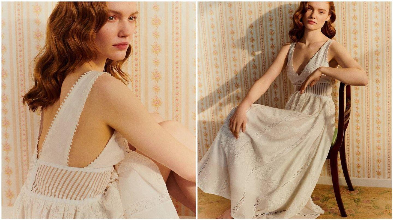Vestido de novia low cost de Delphine Manivet x La Redoute. (Cortesía)