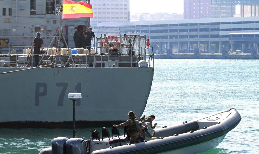 Foto: El patrullero de la Armada Serviola. (EFE)
