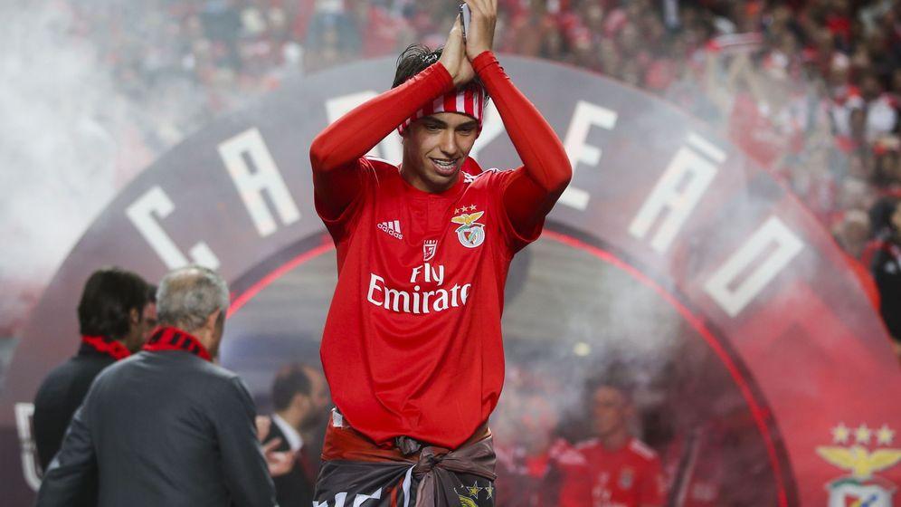 Foto: Joao Félix en la celebración del título liguero. (EFE)