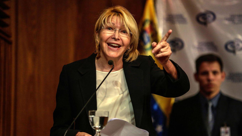 La fiscal general de Venezuela, Luisa Ortega, durante una conferencia de prensa en Caracas, el 31 de julio de 2017. (EFE)