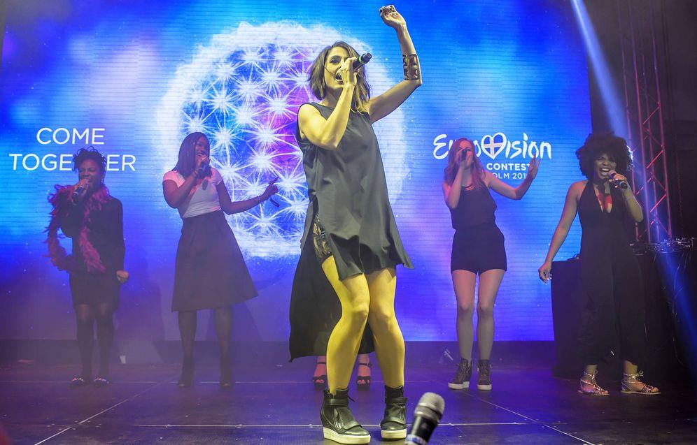 Foto: Barei, durante uno de los ensayos de Eurovisión 2016.
