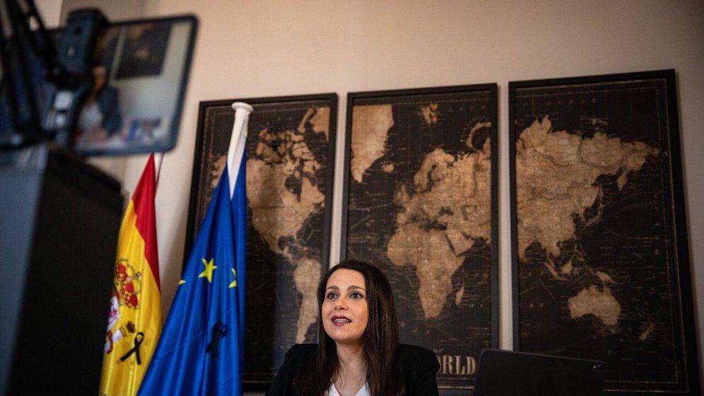 Foto: Inés Arrimadas, durante su discurso de clausura de la V asamblea general. (Pedro Ruiz)
