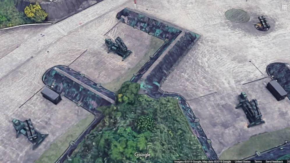 Foto: Una de las imágenes de Google Maps en las que se puede ver una instalación militar.