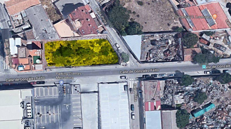 El solar adquirido por la cooperativa Entrepatios en Las Carolinas, Usera, Madrid.