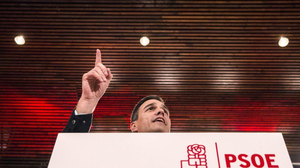 Foto: Pedro Sánchez durante su intervención en Málaga el pasado viernes. (EFE)