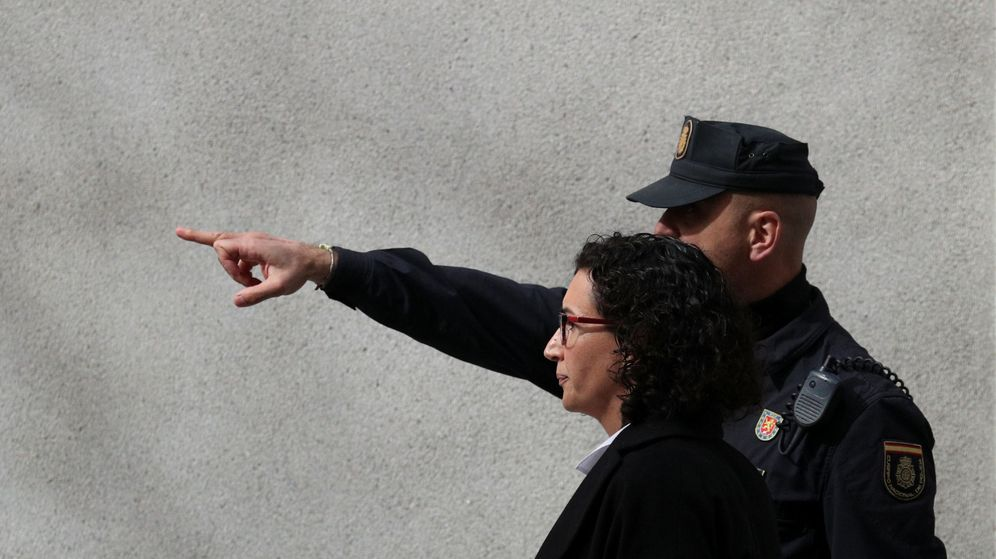 Foto: Marta Rovira en el Supremo. (Reuters)