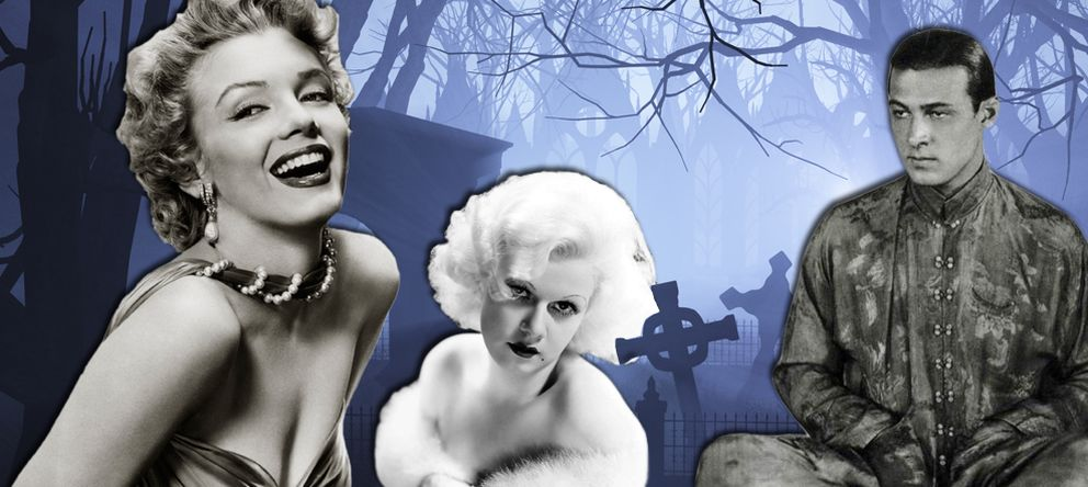 Foto: Marilyn Monroe, Jean Harlow y Rodolfo Valentino