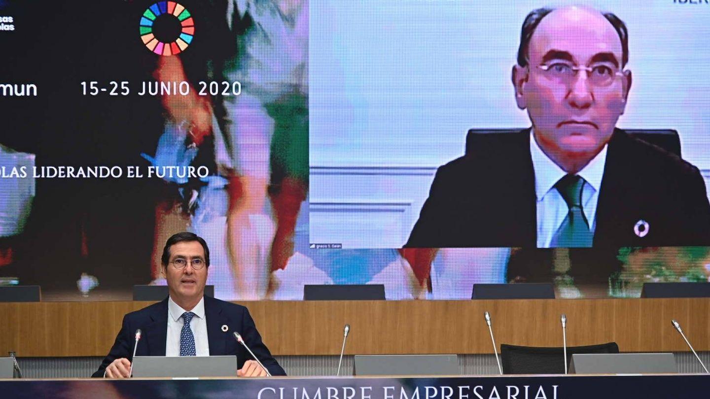 Ignacio Sánchez Galán interviene por videoconferencia.