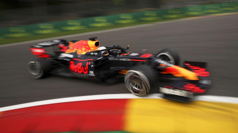 Max Verstappen durante los entrenamientos libres del GP de Bélgica. (EFE)