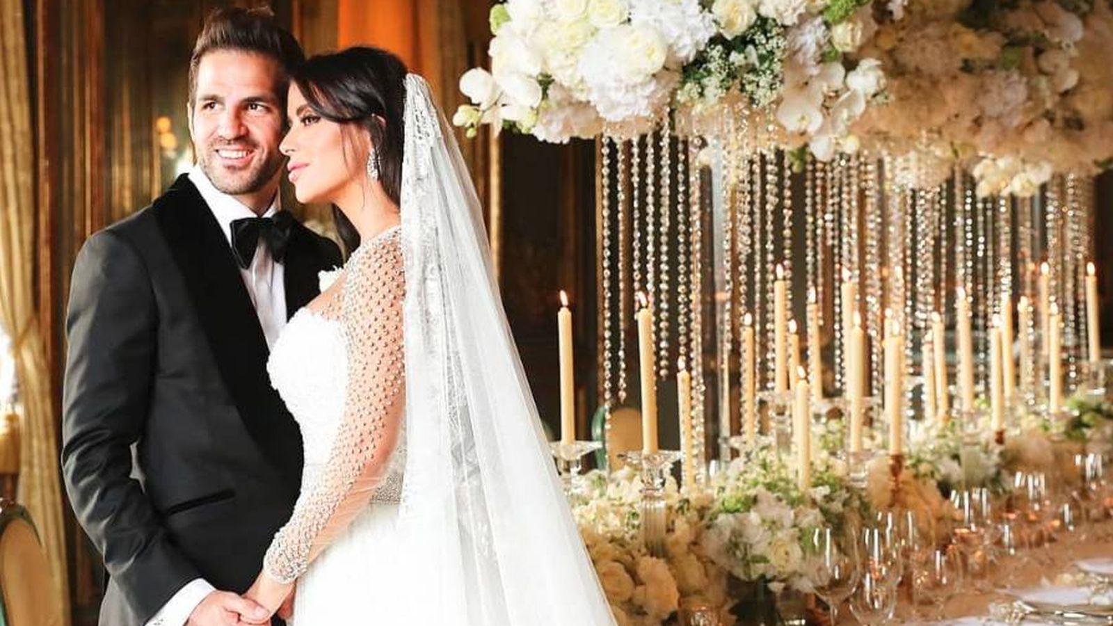 Foto:  Cesc y Daniella, el día de su boda. (IG)