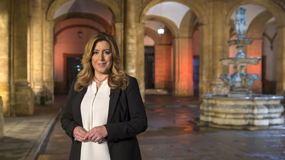 Foto: Mensaje de fin de año de la presidenta de la Junta de Andalucía. (EFE)