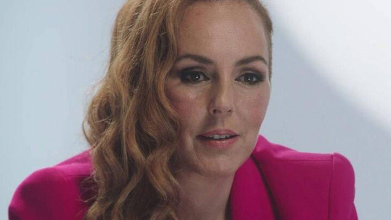 Rocío Carrasco, durante la emisión del programa. (Mediaset)