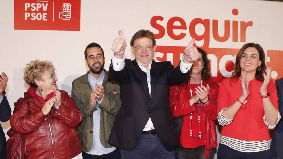 Foto: Ximo Puig, tras valorar los resultados de las elecciones autonómicas. (PSPV-PSOE)