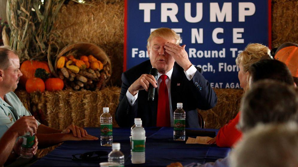 Foto: El próximo presidente de Estados Unidos, Donald Trump, en un encuentro con granjeros durante la campaña. (Reuters)
