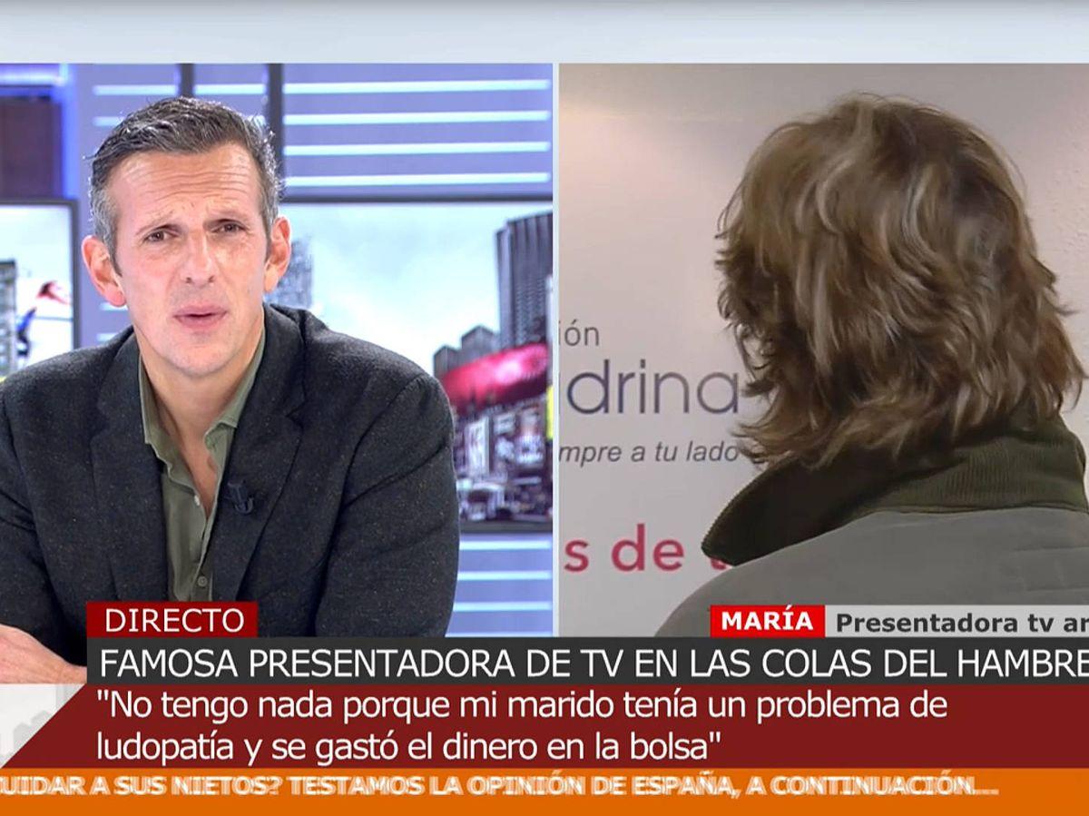 Foto: Joaquín Prat, entrevistando a la mítica expresentadora. (Mediaset)