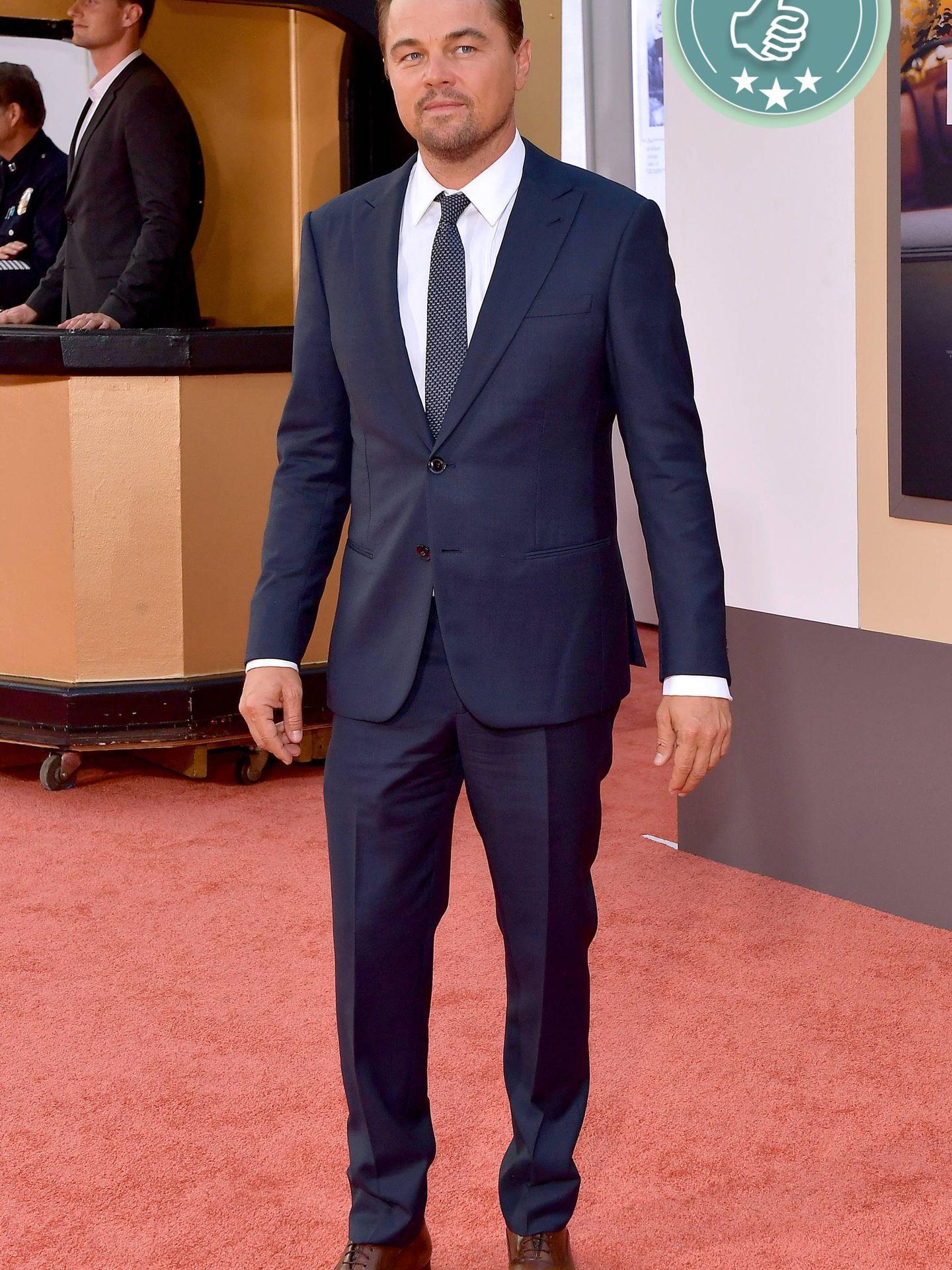 Leonardo DiCaprio en la première de 'Once Upon a Time in Hollywood'. (Getty)