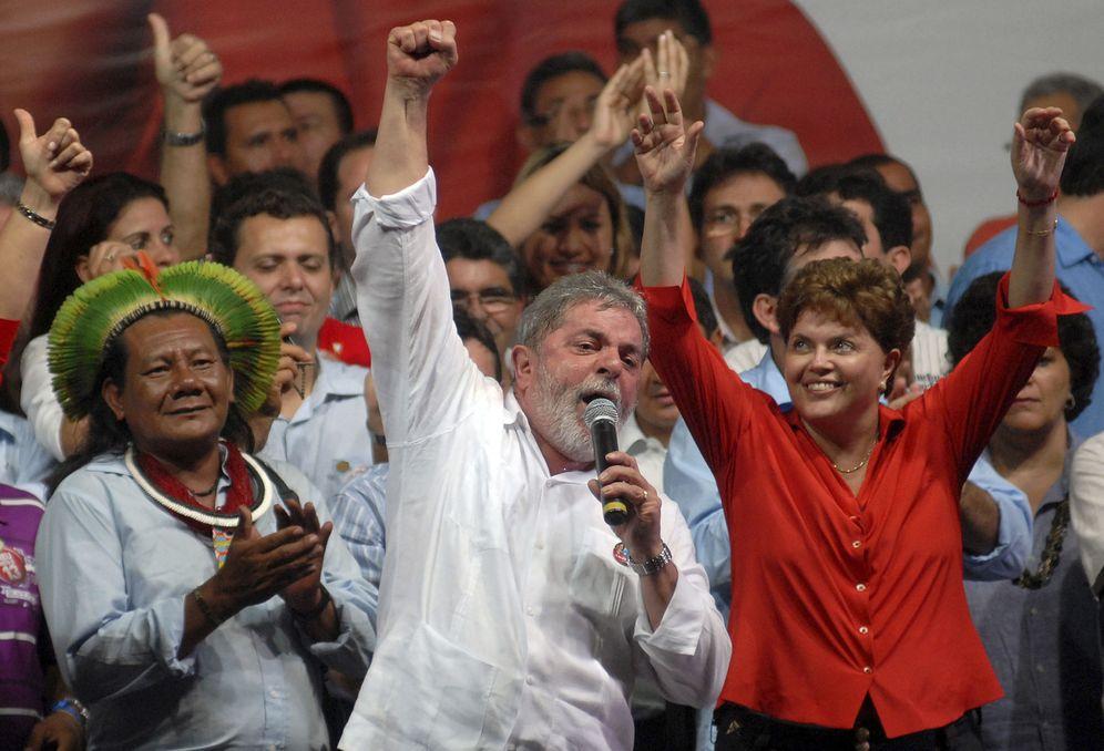 Foto: Lula da Silva y Dilma Rousseff durante un mitin de campaña en Belem (Reuters).
