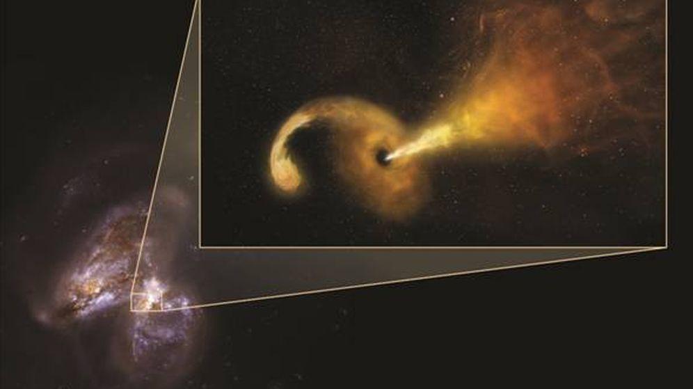 Foto: Imagen artística de la destrucción de la estrella captada por los investigadores