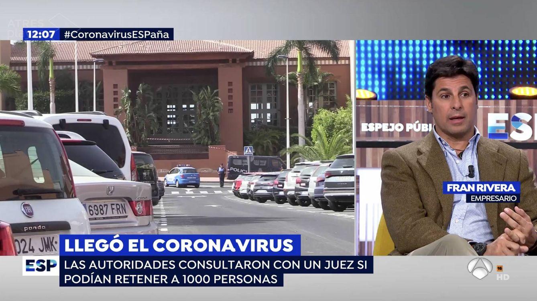 Críticas a Fran Rivera por sembrar el terror sobre el coronavirus desde 'Espejo público'