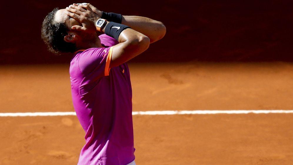 Foto: Nadal celebra su victoria ante Djokovic. (EFE)