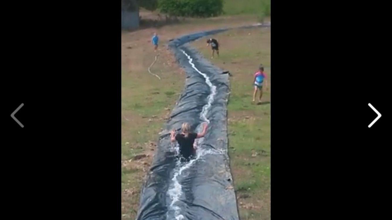 El tobogán casero más largo del mundo: un recorrido de 30 segundos de caída