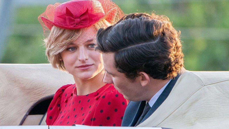 Emma Corrin, como Diana Spencer en la cuarta temporada de 'The Crown'. (Netflix)