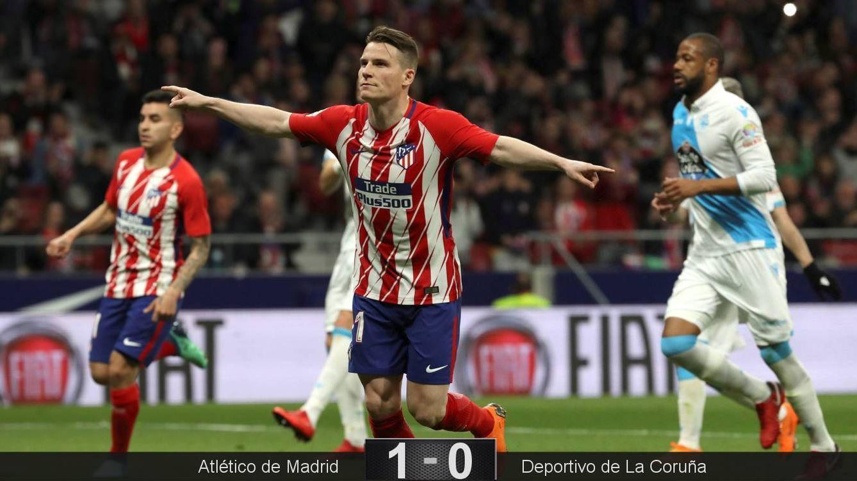 Foto: Kevin Gameiro, de penalti, marcó el único gol del Atlético de Madrid-Deportivo de La Coruña. (EFE)