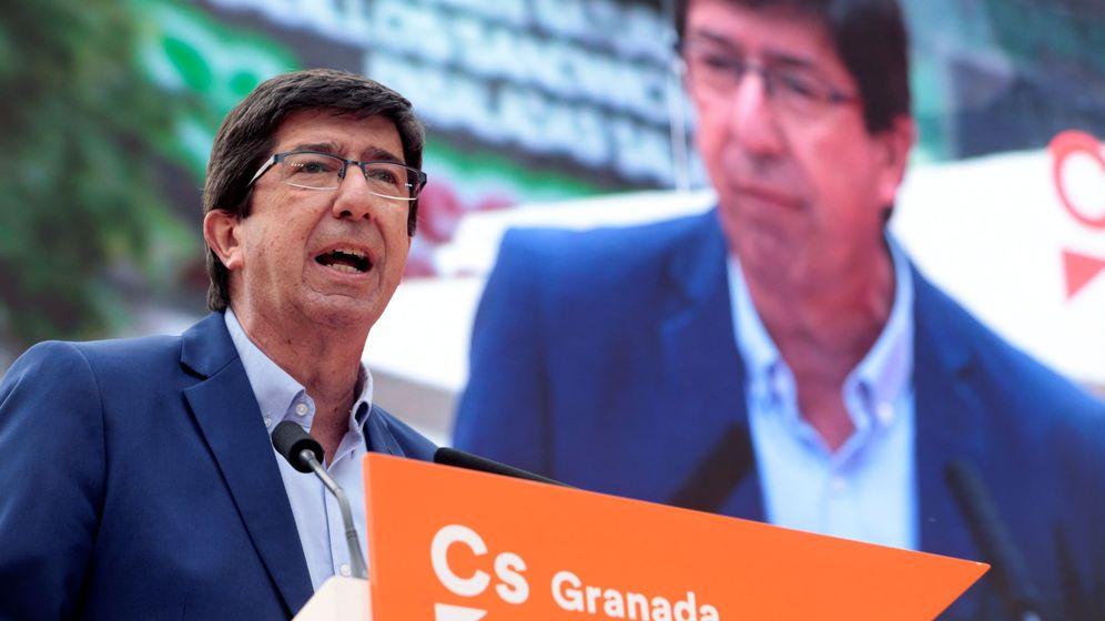 Foto: El portavoz de Ciudadanos en Andalucía, Juan Marín. (EFE)