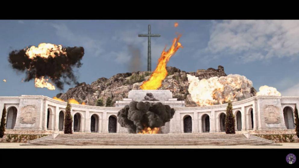 Un festival se promociona volando por los aires el Valle de los Caídos el 20-N