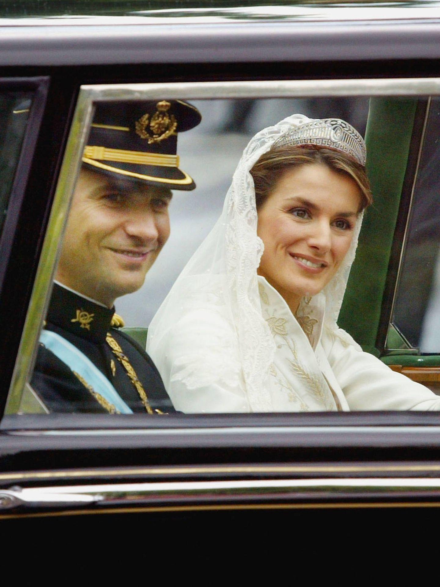 Letizia y Felipe, el día de su boda. (Getty)