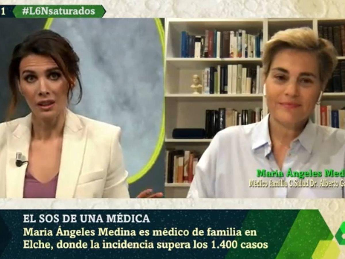 Foto: María Ángeles Medina, en 'La Sexta noche'. (Atresmedia).